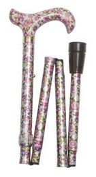 Classic Canes Pink Sprigged Floral